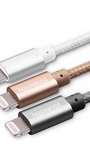 Verlichting USB kabeladapter Data & Synchronisatie Oplaadkoord Oplaadkabel Koord Gevlochten Kabels Kabel Voor iPad Apple iPhone 100 cm