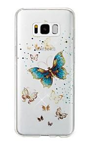 Custodia Per Samsung Galaxy S8 Plus S8 IMD Fantasia/disegno Per retro Farfalla Glitterato Morbido TPU per S8 Plus S8 S7 edge S7