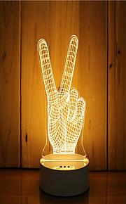 1 sæt 3d stemning nat lys hånd følelse dæmpbar usb powered gave lampe sejr gestus