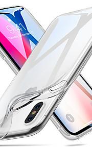 Etui Til Apple iPhone X iPhone 8 iPhone 6 iPhone 6 Plus iPhone 7 Plus iPhone 7 Transparent Bagcover Helfarve Blødt TPU for iPhone X
