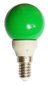 1pc 0.5W E14 LED-globepærer G45 7 LED Dyp Led Grønn 15-25lm 0000K AC100-240V