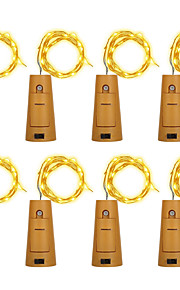 Brelong 8pcs 5led vinflaske kopper streng lys for julen Halloween bryllup fest dekorasjoner