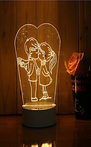 1 sæt 3d stemning nat lys hånd følelse dæmpbar usb powered gave lampe elsker hinanden