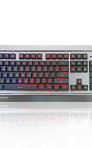 ajazz-ak27 mechanische krijger toetsenbord lol internet cafe toetsenbord achtergrondverlichting bedrade metalen verlichting spel