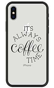 Case For Apple iPhone X iPhone 8 Plus Pattern Back Cover Word / Phrase Soft TPU for iPhone X iPhone 8 Plus iPhone 8 iPhone 7 Plus iPhone