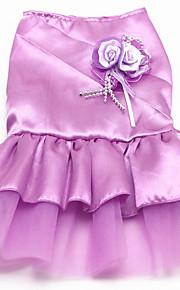 犬 ドレス 犬用ウェア パーティー/イブニング 結婚式 プリンセス プリンセス パープル レッド ブルー ピンク コスチューム ペット用