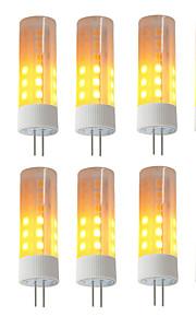 10pcs 3W 230 Żarówki LED kukurydza 36 Diody LED SMD 2835 Efekt płomienia Ciepła biel 3000-3500K DC 12V