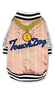 犬 コート 犬用ウェア シュラッグ カジュアル/普段着 文字&番号 スパンコール ブラック ピンク コスチューム ペット用