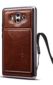 케이스 커버 Xiaomi 용 Mate 10 뒷면 커버 카드 홀더 스탠드 한 색상 하드 인조 가죽 Mate 10 용