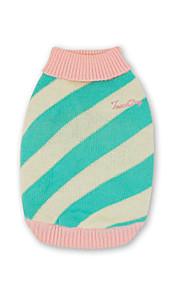 犬 セーター ベスト 犬用ウェア カジュアル/普段着 保温 ストラップ柄 グリーン ブルー ピンク コスチューム ペット用
