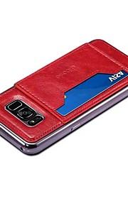 케이스 커버 Xiaomi 용 S8 Plus S8 뒷면 커버 카드 홀더 스탠드 한 색상 하드 인조 가죽 S8 Plus S8 용