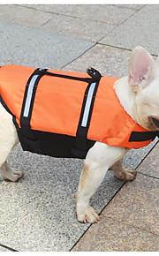 Kat Hund Redningsvest Hundetøj nyt Vanntett Ensfarvet Orange Gul Kostume For kæledyr