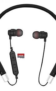 Cwxuan 목 밴드 무선 헤드폰 평면 자성 플라스틱 모바일폰 이어폰 자석 매력 볼륨 컨트롤 마이크 포함 스테레오 헤드폰