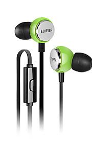 EDIFIER H293P 귀에 유선 헤드폰 동적 구리 모바일폰 이어폰 볼륨 컨트롤 마이크 포함 헤드폰