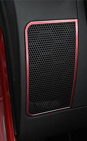 Automotive Interior Speaker Covers DIY Car Interiors For Jeep 2011 2012 2013 2014 2015 2016 2017 Wrangler Aluminium Alloy