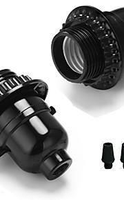 2 sztuk e26 / e27 bakelit podstawa żarówki uchwyt lampy z pokrętłem przycisk przełącznika rocznika edison wisiorek diy