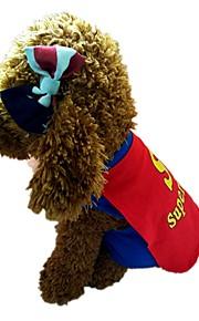 Hund Vest Hundetøj Stilfuld Indpakning inkluderet Bogstav & Nummer Blå Kostume For kæledyr