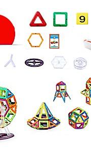 마그네틱 블록 장난감 트럭 건설차량 비행기 장난감 라운드 광장 전사 차 건축 사람 동물 운송기기 변형 가능 부모 - 자녀 상호 작용 아이 128 조각