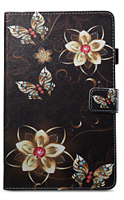 Case For Amazon Card Holder Wallet with Stand Pattern Auto Sleep/Wake Up Full Body Butterfly Hard PU Leather for Kindle Fire 7(5th