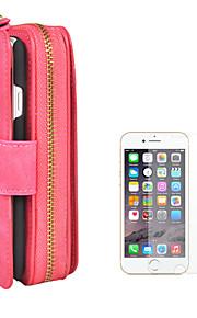 hoesje Voor Apple iPhone 8 iPhone 6 Kaarthouder Portemonnee Flip Magnetisch Effen Kleur Hard PU-nahka voor iPhone 8 Plus iPhone 8 iPhone