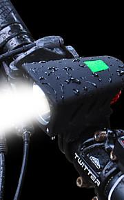 자전거 후미등 자전거 전조등 LED LED 싸이클링 키트 충전지 1200 루멘 충전가능한 배터리 화이트 캠핑/등산/동굴탐험 일상용 다이빙/보트 사이클링 사냥