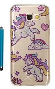 Capinha Para Samsung Galaxy A5(2017) A3(2017) IMD Estampada Glitter Brilhante Capa traseira Unicórnio Macia TPU para A3 (2017) A5 (2017)