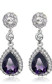 Damskie Kolczyki wiszące Akrylowy Rhinestone Modny Słodkie Europejski Stop Kropla Biżuteria Impreza Biżuteria kostiumowa
