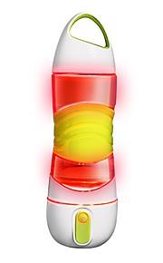 Bidony Świecące w ciemności Butelka z rozpylaczem Anti-Slip SOS Oświetlenie awaryjne BPA bezpłatny PP + ABS Krzem na Rower Siłownia
