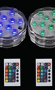 BRELONG® 2pcs 2W Undervannslys Fjernstyrt Vanntett Dekorativ Svømmebasseng RGB 5.5V