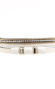 Dame Læder Armbånd Afslappet Mode Læder Hvid Uregelmæssig Smykker Gave Daglig Kostume smykker