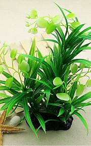 Akvarium Dekorasjon Vanntett Vannplante Planter Vanntett Dekorasjon Vaskbar Plastikker