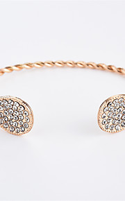 Dame Manchetarmbånd Kvadratisk Zirconium Simple Mode Zirkonium Legering Guld Sølv Dråbe Smykker Daglig I-byen-tøj Kostume smykker