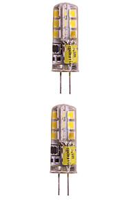 WeiXuan 6pcs 2W 160lm lm G4 LED-lamper med G-sokkel T 24pcs leds SMD 2835 Varm hvit Kjølig hvit 12V