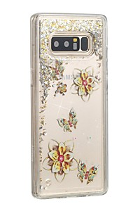 Case For Samsung Galaxy Note 8 Flowing Liquid Back Cover Butterfly Glitter Shine Hard PC for Note 8