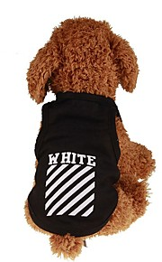 Dogs / Cats / Pets Shirt / T-Shirt / Jacket / Vest Dog Clothes Simple / Letter & Number / Classic Black Plush Fabric / Cotton Costume For