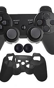 Trådløs Case Protector / Game Controllers Til Sony PS3, Bluetooth Bærbar Case Protector / Game Controllers Silikon / ABS 1pcs enhet USB
