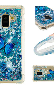 Case For Samsung Galaxy A8 2018 / A8 Plus 2018 Shockproof / Flowing Liquid / Pattern Back Cover Butterfly / Glitter Shine Soft TPU for