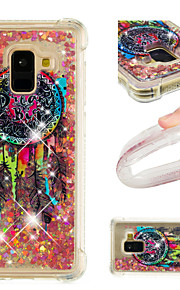 Case For Samsung Galaxy A8 2018 / A8 Plus 2018 Shockproof / Flowing Liquid / Pattern Back Cover Glitter Shine / Dream Catcher Soft TPU for