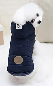 Rodents / Dogs / Rabbits Puffer / Down Jacket Dog Clothes Solid Colored Gray / Light Blue Cotton Costume For Pets Female Fashion / Euramerican