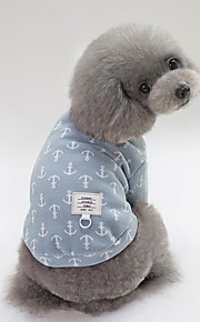 Dogs T-shirts Dog Clothes Patterned / Character Yellow / Blue / Pink Cotton Costume For Pets Unisex Sweet Style / Simple Style
