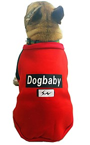 Dogs Sweatshirt Dog Clothes Character / British / Slogan Gray / Red Cotton Costume For Pets Unisex Sweet Style / Casual / Daily