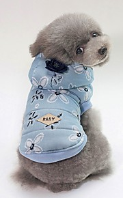 Dogs Coat Dog Clothes Geometric / Toile Dark Blue / Light Blue Cotton Costume For Pets Unisex Casual / Daily / Warm Ups