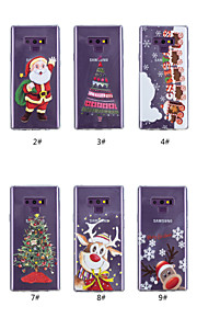 Case For Samsung Galaxy Note 9 / Note 8 Transparent / Pattern Back Cover Christmas Soft TPU for Note 9 / Note 8