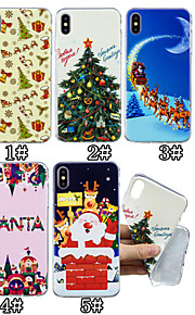 Case For Apple iPhone XS / iPhone XS Max Pattern Back Cover Christmas Soft TPU for iPhone XS / iPhone XR / iPhone XS Max