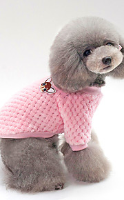 Dogs / Cats Sweater Dog Clothes Solid Colored Blue / Pink Cotton Costume For Pets Unisex Keep Warm / Leisure