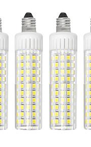 4pcs 8.5 W 1105 lm E11 Bombillas LED de Mazorca T 125 Cuentas LED SMD 2835 Regulable Blanco Cálido / Blanco Fresco 220 V