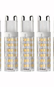 5 pezzi 4.5 W 450 lm G9 LED a pannocchia T 76 Perline LED SMD 2835 Oscurabile Bianco caldo / Luce fredda 220 V