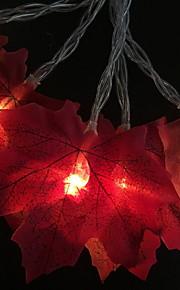 3 M Łańcuchy świetlne 20 Diody LED Pomarańczowy Dekoracyjna Zasilanie bateriami AA 1 zestaw