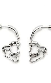 Ανδρικά Κρεμαστά Σκουλαρίκια Σκουλαρίκια Κρανίο Απλός Κοσμήματα Χρυσό    Μαύρο   Ασημί Για Halloween Δώρο 1 d5e8a6eeb01