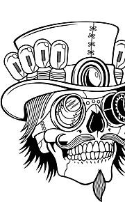 καπέλο πειρατής τοίχο κρανίο αυτοκόλλητο τοίχο διακοσμητικά τέχνη ταπετσαρία